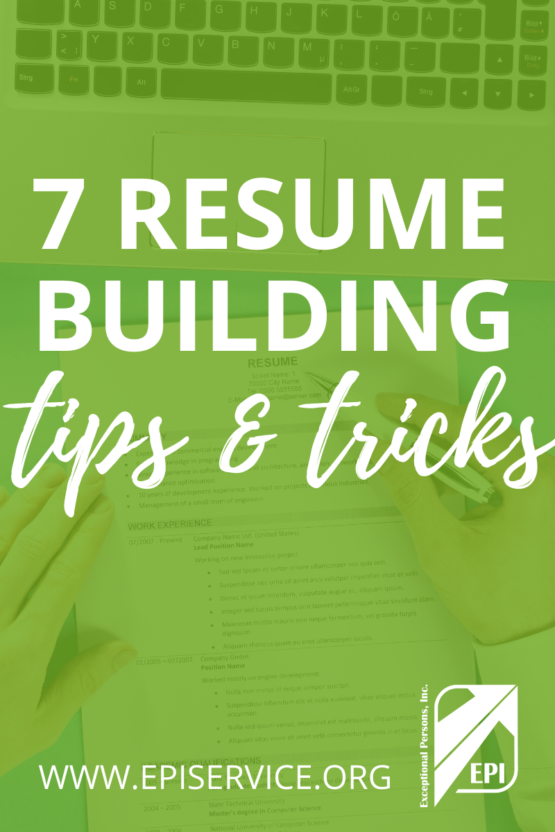 7 Resume Building Tips and Tricks