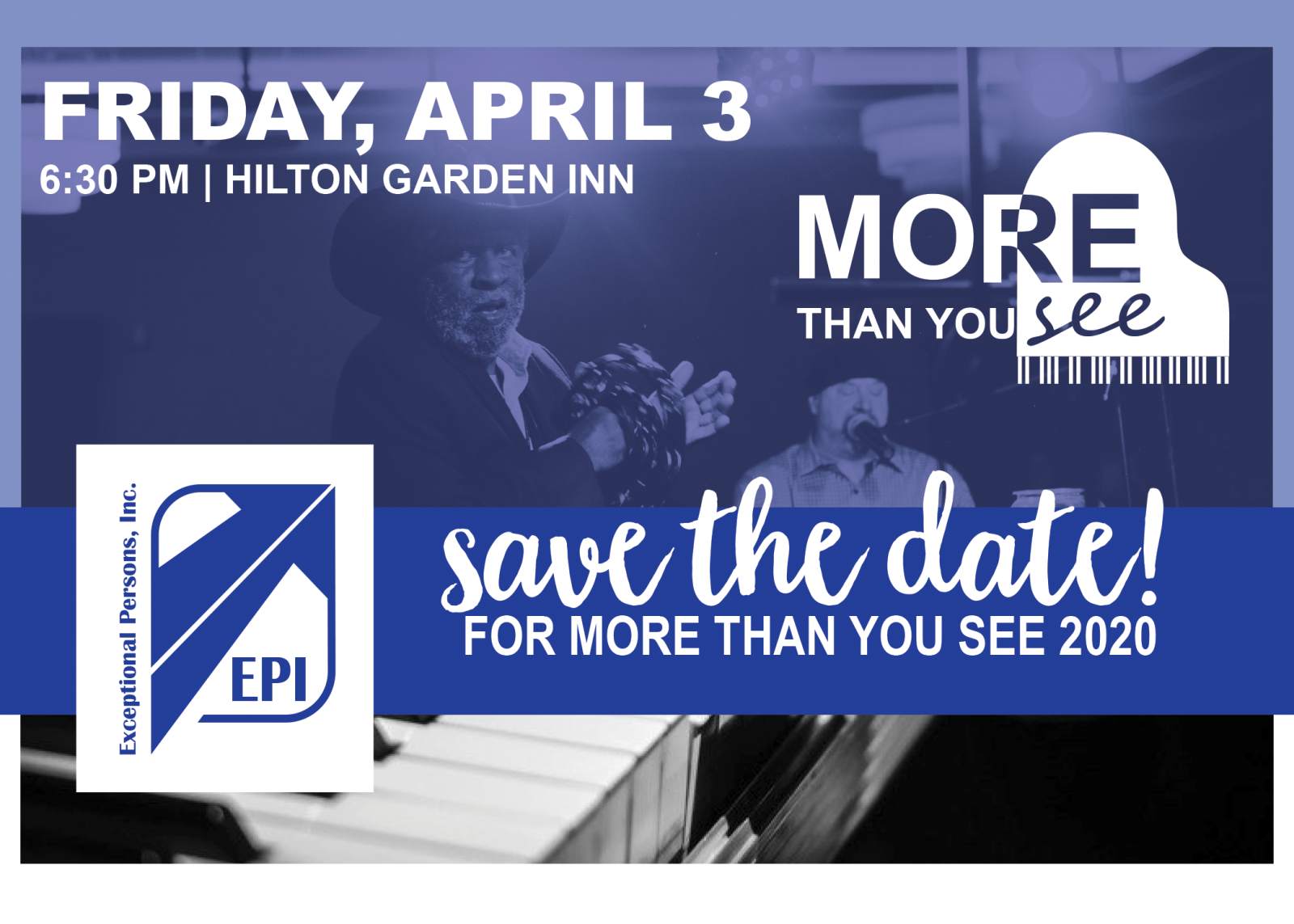 More Than You See - Dueling Pianos Benefit for EPI