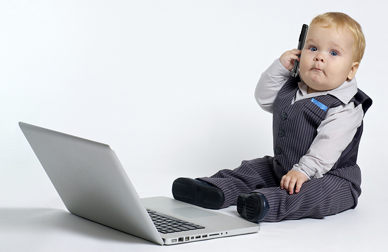 child at laptop